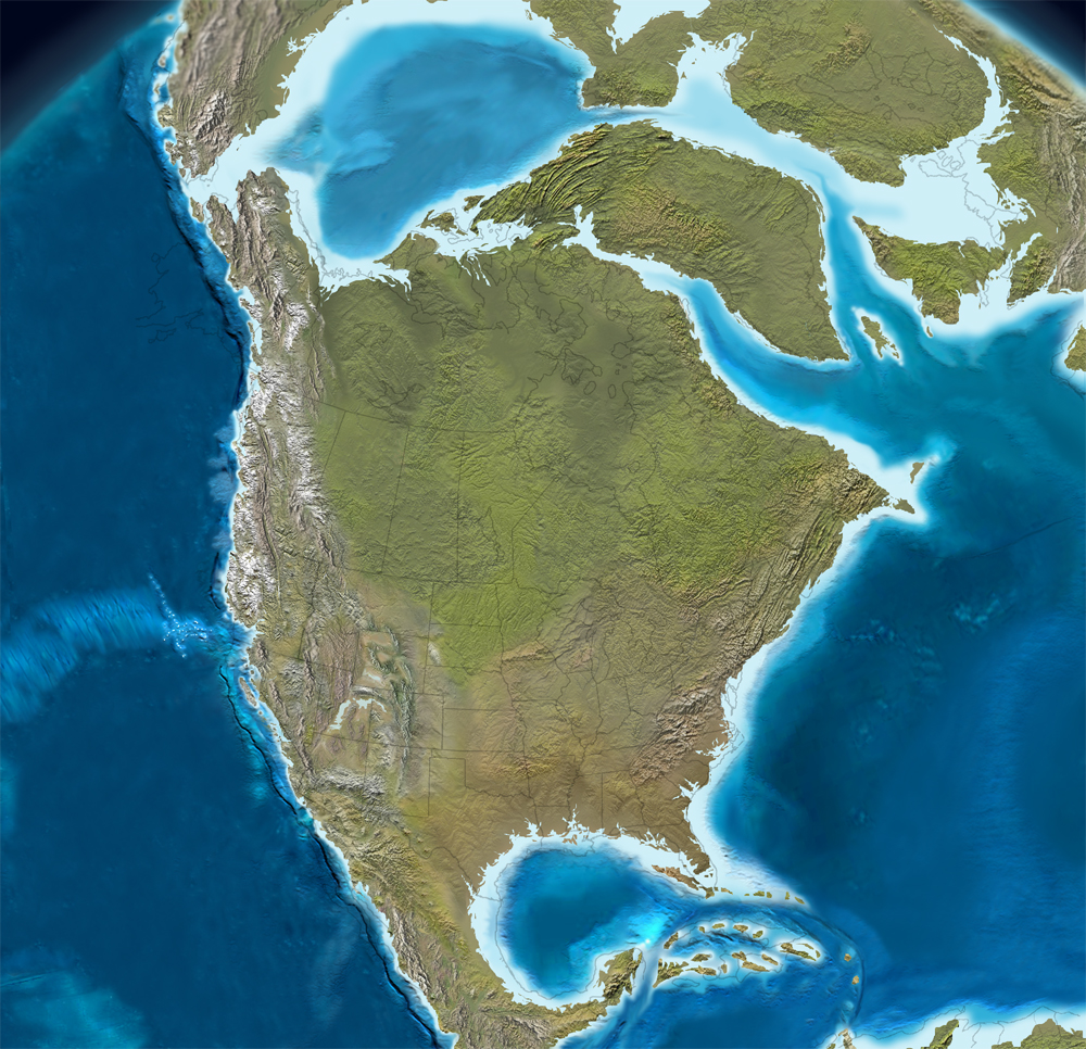 Miocene World Map.Cenozoic Time And Paleogeography